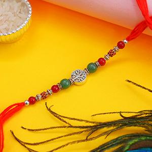 Elegant Silver Designer Rakhi