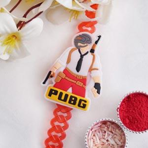 Red PUBG Bracelet Kids Rakhi