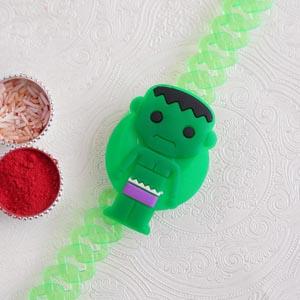 Green Hulk Bracelet Kids Rakhi