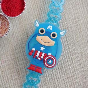 Captain America Bracelet Kids Rakhi