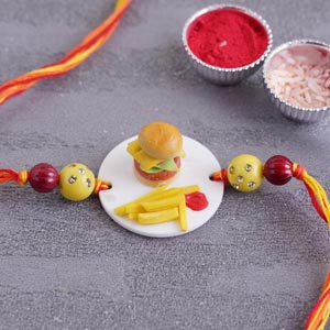 Burger Meal Rakhi for Kids
