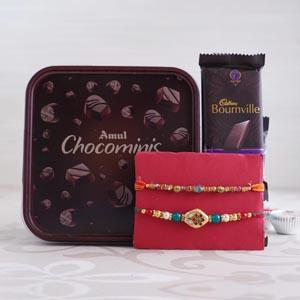 Two Rakhi Set With Chocolates
