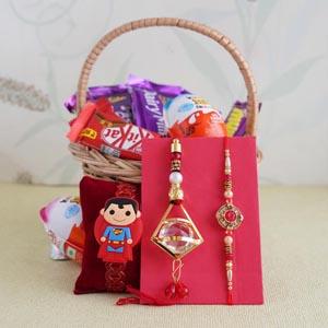 Bhaiya Bhabhi and Kids Rakhi Chocolate Hamper