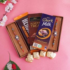 Set of 2 Rakhi with Chocolates