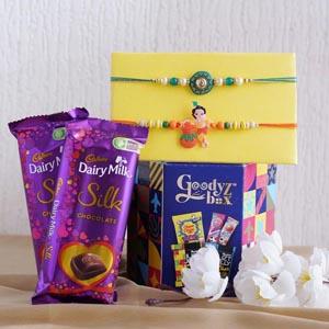 Two Rakhi Set With Chocolate Combo