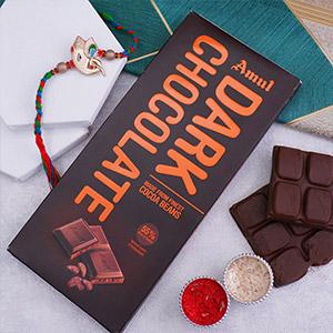 Ganesha Rakhi With Amul Dark Chocolate