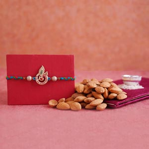 Krishna Rakhi with 200 Grams Almonds