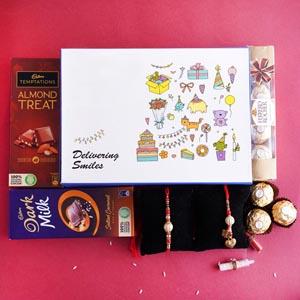Bhaiya Bhabhi Rakhi and Chocolates Signature Box