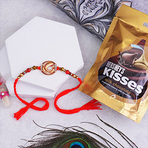 Golden Rakhi and Kisses Milk Chocolates