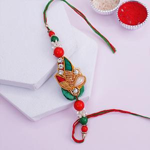 Red and Green Marwari Rakhi