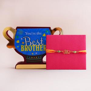 Bro Rakhi with Best Brother Trophy - Rakhi Gift Ideas