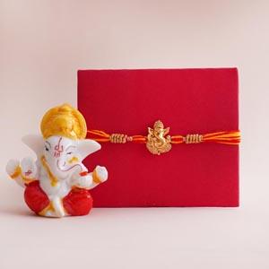 Ganesha Rakhi with Lord Ganesha Idol