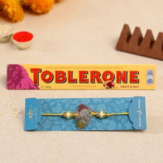 Divine Bal Ganesha Kids Rakhi And Toblerone Chocolate