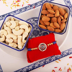 Colorful Rakhi with Cashew Almond