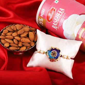 DRUZI stone Rakhi Combo Gift