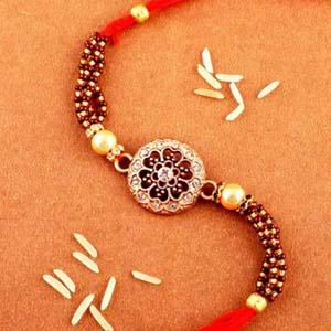 Stone Studded Single Rakhi