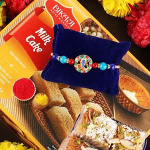 Spiritual Ganesha Rakhi & Milk Cake