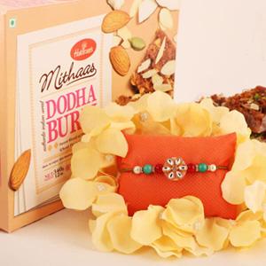 Simply Elegant Floral Rakhi & Dhodha