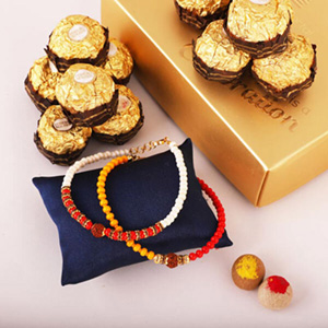 Ferrero with Two Beads Rakhi