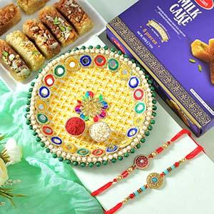 MilkCake with Double Rakhi