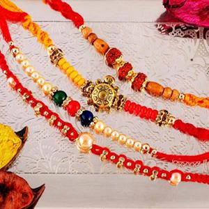 Four Elegant Rakhi Set