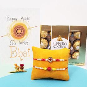 Rakhi Pair & Ferrero 12pc