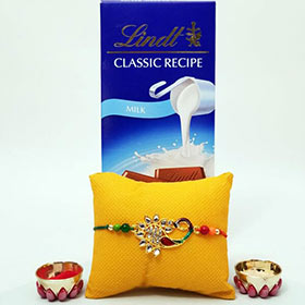 Peacock Rakhi with Lindt
