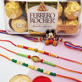 Mickey Rakhi Set with Ferrero